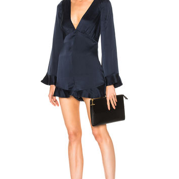 Zimmermann Sueded Tuck Playsuit in French Navy | FWRD