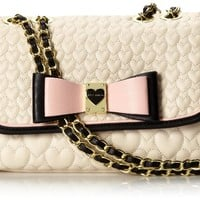 Betsey Johnson Be My Honey Buns Flapover Shoulder Bag