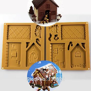 Silicone Christmas House Chocolate Mold Cake Icing Decorating Chocolate Gingerbread House Silicone Mold X1 Pack