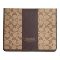 Coach Heritage F77261 Ipad Case Tablet Cover Brown