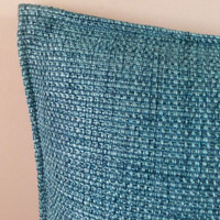 Decorative Blue Cotton Textured Throw Pillow cover Home Decor Accent Pillows 18 x 18 Pillow Cover Cushion Cover Sofa Pillows