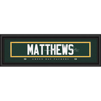 "Green Bay Packers Clay Matthews Print - Signature 8""x24"""