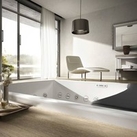 2 seater whirlpool bathtub SEASIDE T08 Seaside Collection by TEUCO | design Talocci Design
