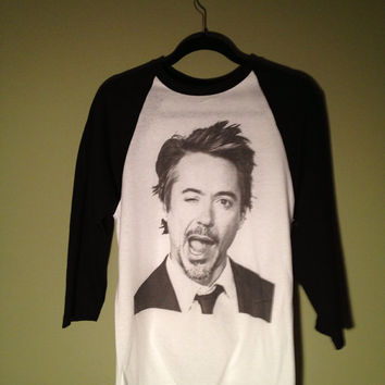 Robert Downey Jr Raglan Long Sleeve Baseball Shirt Unisex