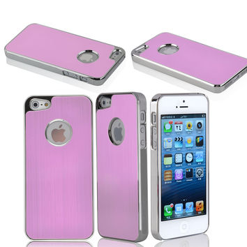 iPhone 5 Premium Brushed Aluminum Case - Pink