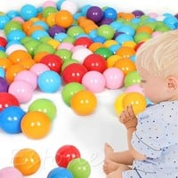 DCCKL72 50Pcs 7cm Colorful Ball Fun Ball Soft Plastic Ocean Ball Baby Kid Toy Swim Toy
