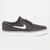 Nike Sb Zoom Stefan Janoski Leather Mens Shoes Black/Grey  In Sizes