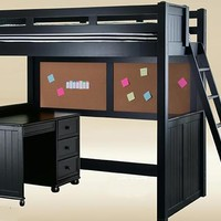 Eberhardt Black College Loft Bed