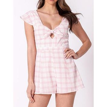Missed Connections Romper | Pink