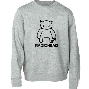 radio head sweater Gray Sweatshirt Crewneck Men or Women for Unisex Size with variant colour