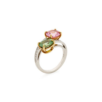 Paolo Costagli Women's Pink Spinel & Grossularite Garnet Cocktail Ring