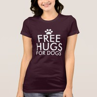 Free Hugs For Dogs Dark T-Shirt