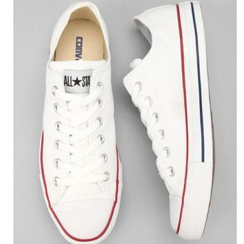 Converse Fashion Canvas Flats Sneakers Sport Shoes White-1