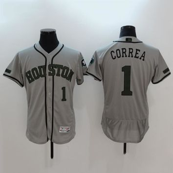 Men's MLB  Buttons Baseball Jersey  HY-17N11Y20D