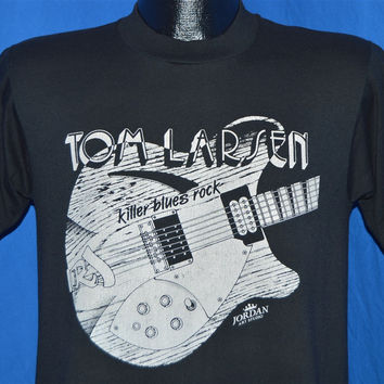 90s Tom Larsen Band Killer Blues Rock Guitar t-shirt Medium