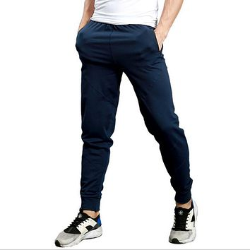 Zipper Pockets Track Pants Men Tracksuit Casual Skinny Sweatpants For Man Cotton Mens Joggers Pants Male Trousers Brand