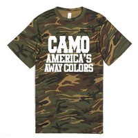 Camo America's Away Colors-Unisex Green T-Shirt
