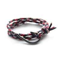 Nautical Hook Bracelet // French Flag