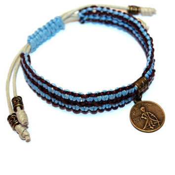 The Little Prince Men Bracelet - This is the best present you can give him,  gift ideas, teen boy, boyfriend, friend, brother,blue, macrame