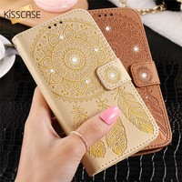KISSCASE For iPhone 6 Case Luxury Glitter Leather Case For iPhone 6 6s Plus Cases Leather Flip Wallet Holder Shell Coque Cover