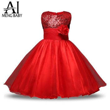 Girls Clothing Red Costume Outfits Princess Girl Fancy Tutu Dress For Children Infant Party Wear Dress Girl