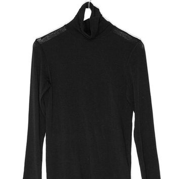 Cashmere Knit Long Sleeved Shirt