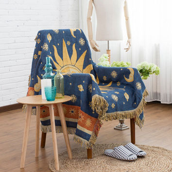 Bohemia knitted blankets Sofa anti-slip cover slipcover sofa towel cotton knitted fabric home decorative cotton Throw/tapestry