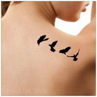 Bird Temporary Tattoo Fake Tattoo