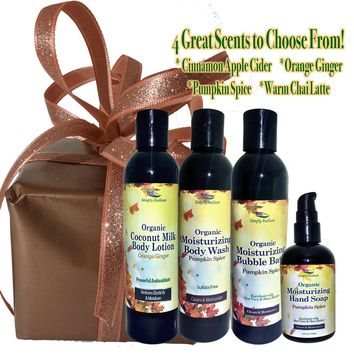 Body Lotion, Body Wash, Bubble Bath & Hand Soap Gift Set