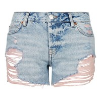 MOTO Pink Rip Ashley Short - Topshop