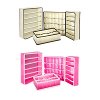 1 Set of 4 Foldable Drawer Dividers Storage Box Closet Under Bed Organizer for Clothes Shoes Underwear Bra Socks Ties