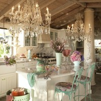Favorite Places and Spaces / Kitchen love. THIS is shabby chic :)