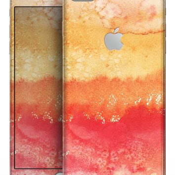 Red v3 Absorbed Watercolor Texture - Skin-kit for the iPhone 8 or 8 Plus
