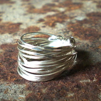 Sterling Silver Tangled Wire Ring