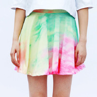 90S  space galaxy dye pastel color skirt