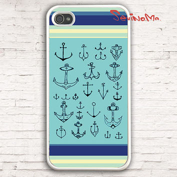 iPhone 4 Case, iphone 4s case, Nautical Stripes anchor  iPhone 4 Case, palette Design iphone hard case for iphone 4, iphone 4S
