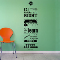 Motivational Quote Mark Cuban Wall Decal