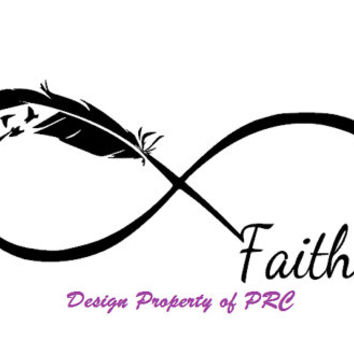Faith Infinity Car Decal,Car Sticker