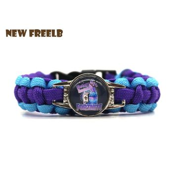 Hot&Classic FPS Game Fortnite Battle Royale Llama Bracelets Fashion Purple Handmade Personalized Jewelry for Women and Men fans