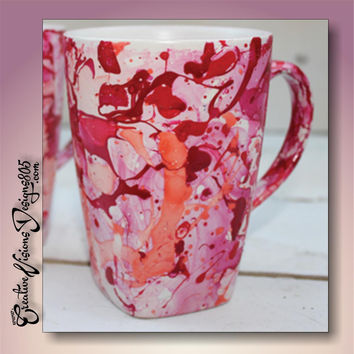 MARBLED - hand dipped coffee mug