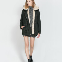 COAT WITH DETACHABLE HOOD - Trf - Coats - Woman | ZARA United Kingdom