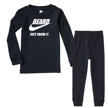 beard   just grow it   mens funny Infant long sleeve pajama set