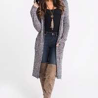 Message In A Bottle Cardigan (Black/White)