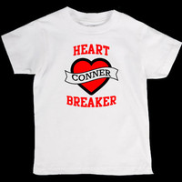 Valentines Day Heart Breaker Personalized Onesuit or Kid's T-Shirt - Two Color