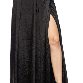Owning It Satin Split Wrap Tie Waist Maxi Skirt - 5 Colors Available