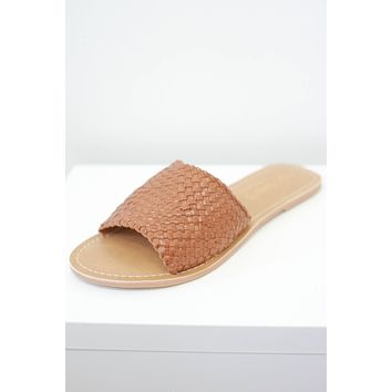 Waverly Sandals - Cognac