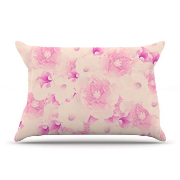 "Deepti Munshaw ""Blush Bouquet"" Pink Roses Pillow Case"