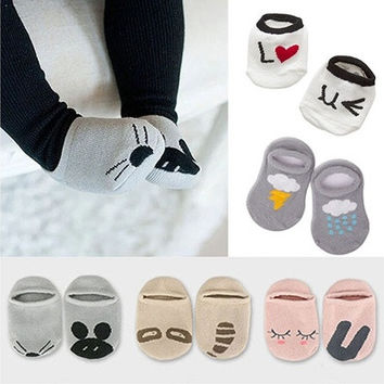 Adorable Baby Cotton Socks Newborn Infant Floor Sock Kids Cute Rabbit Bear Style DEL [8322964097]