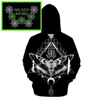 Wicked Apparel  Motte Schwarz Hoodie By Pixie Cold #422