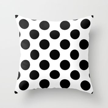 #7 Circles Throw Pillow by Minimalist Forms